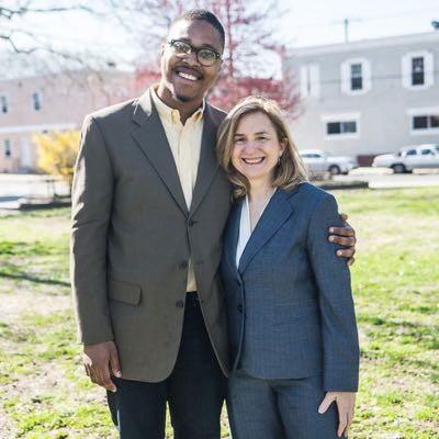 Kenyatta with Sherrie Cohen.