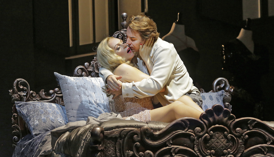 "Kristine Opolais and Roberto Alagna in Puccini's ""Manon Lescaut"". Photo: Ken Howard/ Metropolitan Opera."