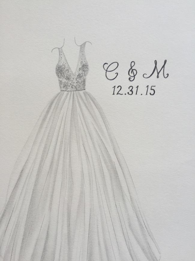 Brushing Brides Graphite Sketch Version Of My Dress