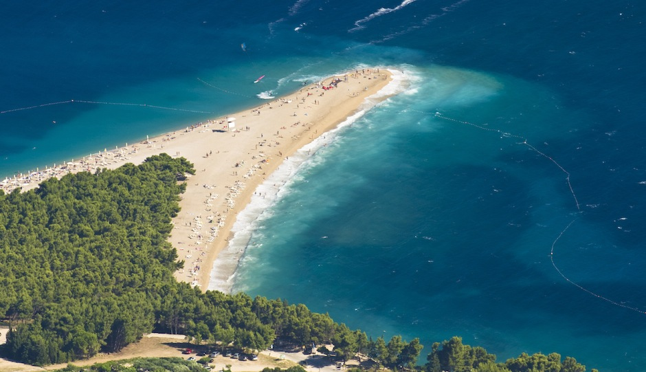 How cool is Zlatni Rat Beach in Croatia? iStock.