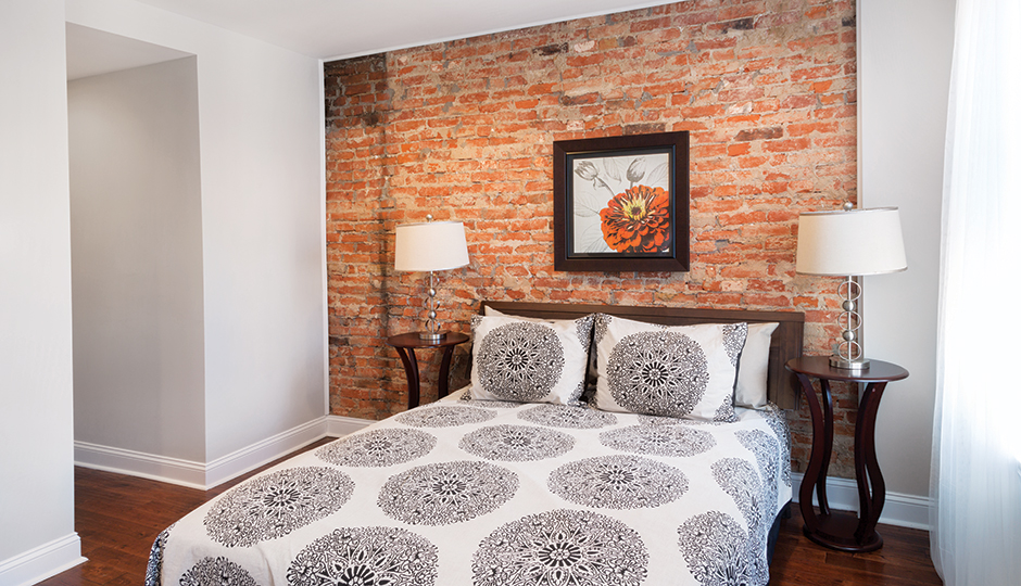 On the market: $295,000. 1232 South 20th Street, Point Breeze. What you get: Two bedrooms, three bathrooms, finished basement, Juliet balcony, patio. Photography by Courtney Apple; styling by Beka Rendell.