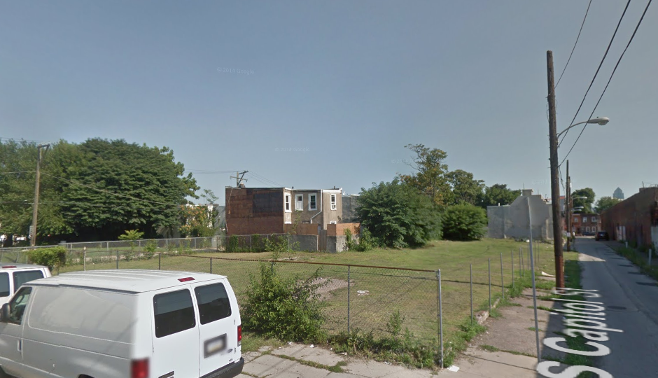 The South Capitol St. property on which one of the developments will be built.
