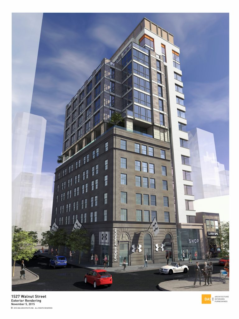 The Beacon at 16th and Walnut | Rendering via Pearl Properties and DAS Architects