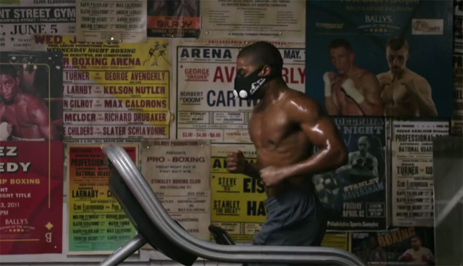 Adonis Creed - running on a treadmill - from Creed