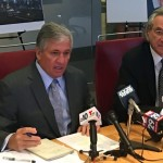 Robert J. Mongeluzzi (left) and Tom Kline - Amtrak 188 press conference