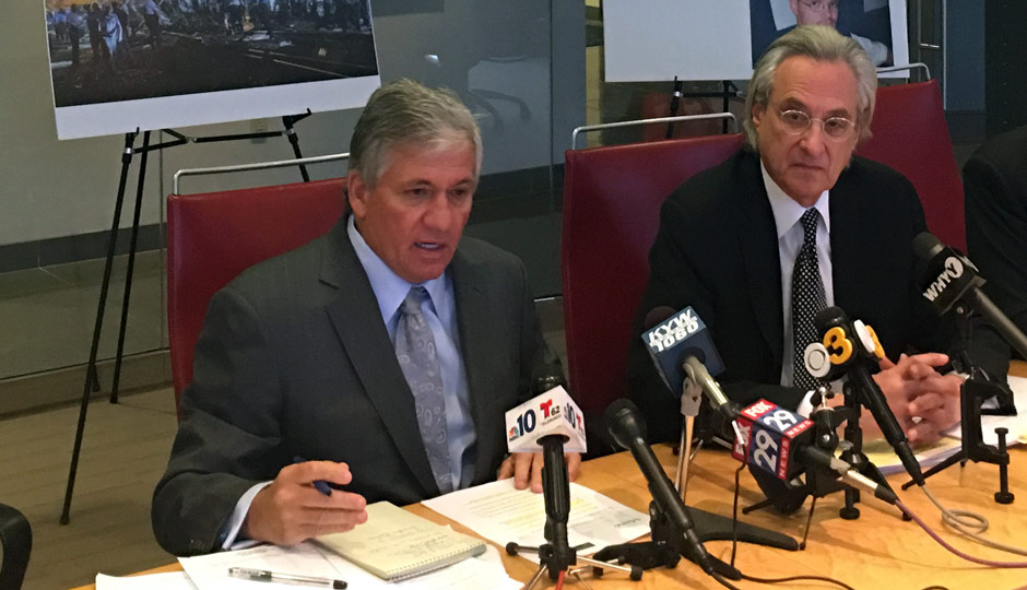 Robert J. Mongeluzzi (left) and Tom Kline - Amtrak 188 press conference