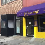 La Creperie closes as Suga prepares to open.
