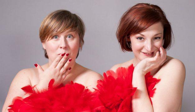 Gigi Naglak and Meghann Williams of Chlamydia dell'Arte: A Sex-Ed Burlesque. [Lauren Schwarz Photography ]