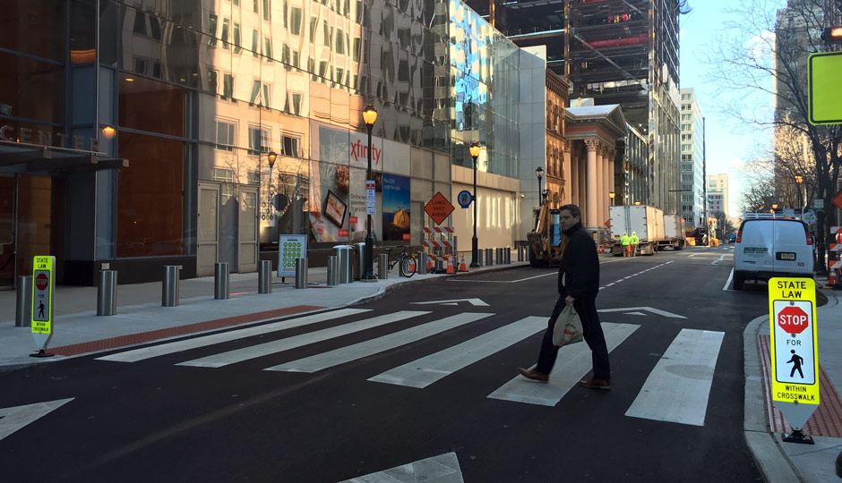 Crosswalk - Arch Street - Comcast - Wawa