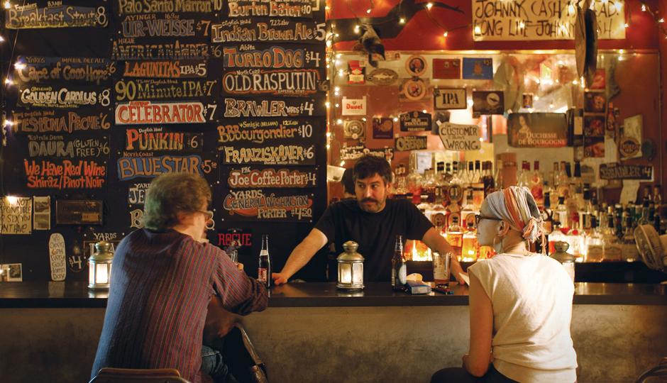 Fiume's Kevin James Holland at his bar.