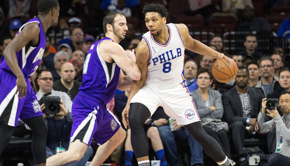 Sixers center Jahlil Okafor finished the game with , leading the Sixers over the Sacramento Kings | Bill Streicher-USA TODAY Sports
