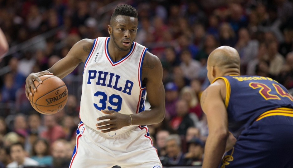 Jerami Grant's improvement on the defensive side of the court has been one of the pleasant surprises for the Sixers this season | Bill Streicher-USA TODAY Sports