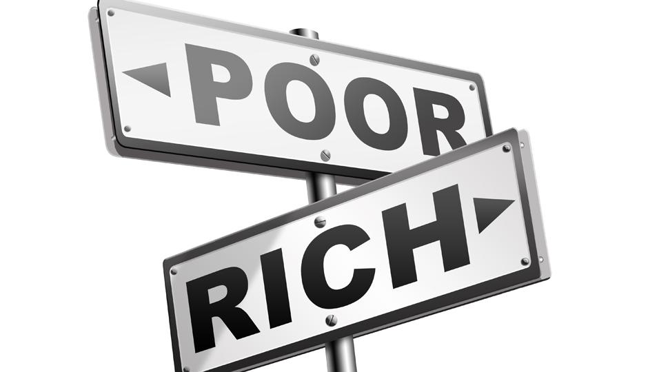 تفاوت بین ثروتمندو فقیر