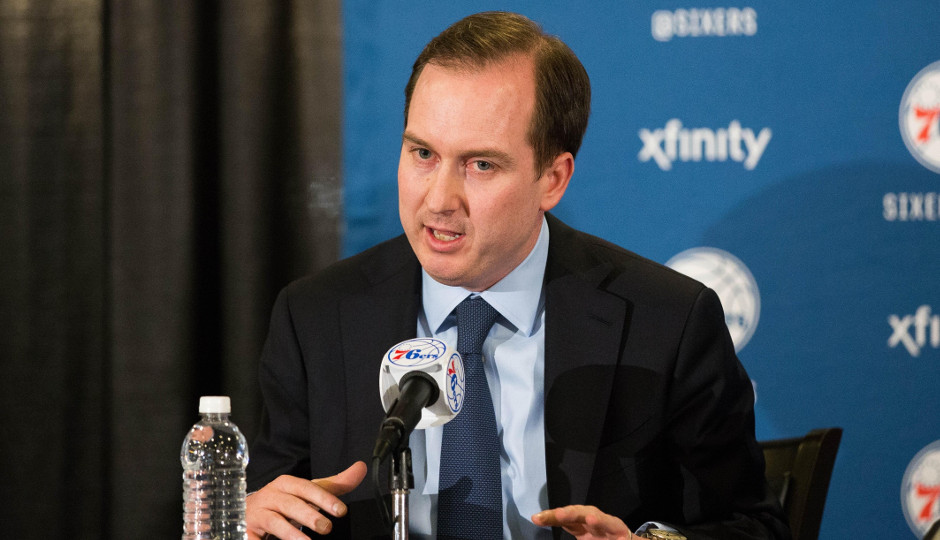 Sixers president and general manager Sam Hinkie says that it's his job to maintain a long-term focus when rebuilding the Sixers | Bill Streicher-USA TODAY Sports