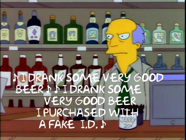 simpsons very good beer