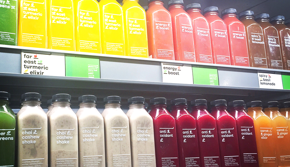 Juices at Snap Kitchen's Old City location | Photo by Adjua Fisher