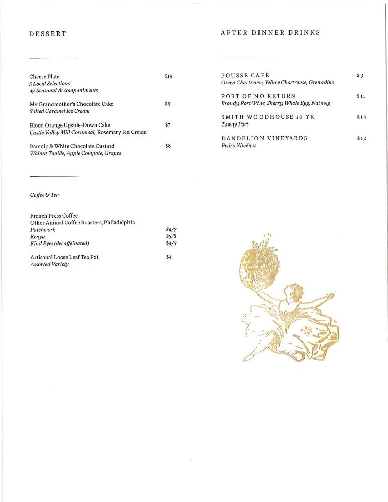southwark dessert menu