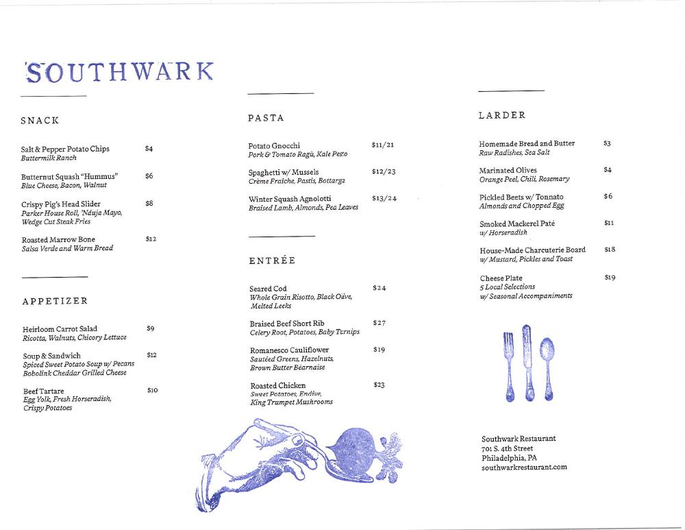 southwark opening menus-1