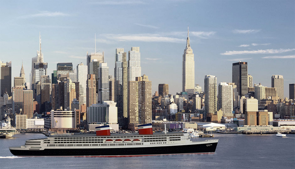 Restored SS United States - rendering