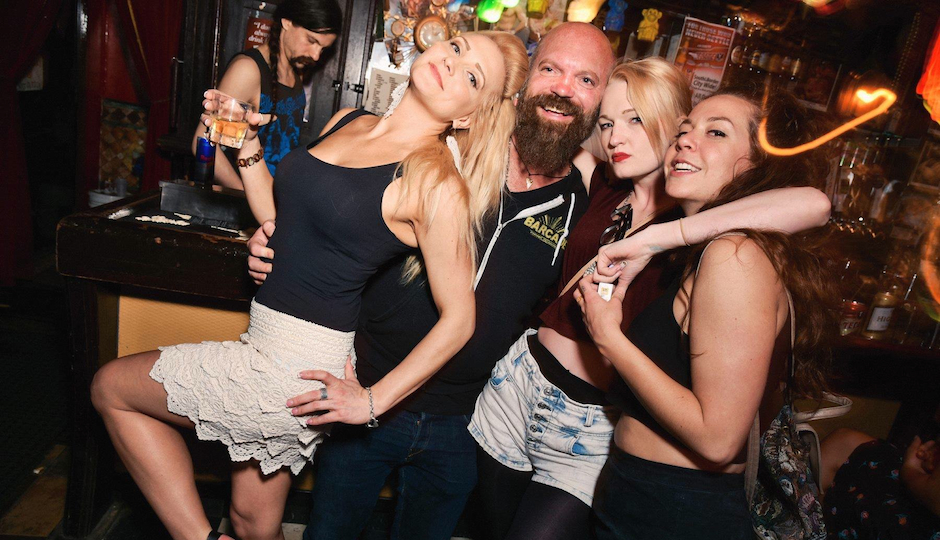 Tommy Up with admirers at Fame Lust party at Kung Fu Necktie. (Photo courtesy Mario Manzoni / Fame Lust)