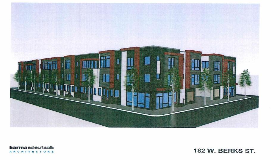 Rendering for the new development on Berks Street. | AGA Developers