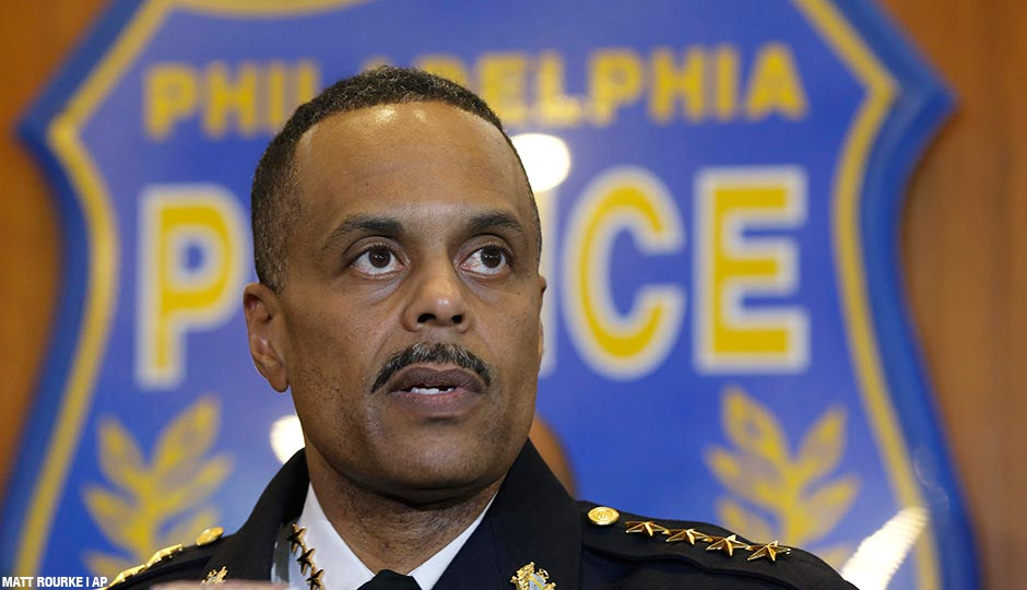 Police Commissioner Richard Ross speaks during a news conference Friday, January 8, 2016, in Philadelphia.