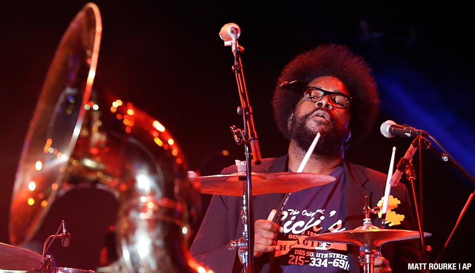 "The Roots' Ahmir ""Questlove"" Thompson performs during an Independence Day celebration Saturday, July 4, 2015, in Philadelphia."
