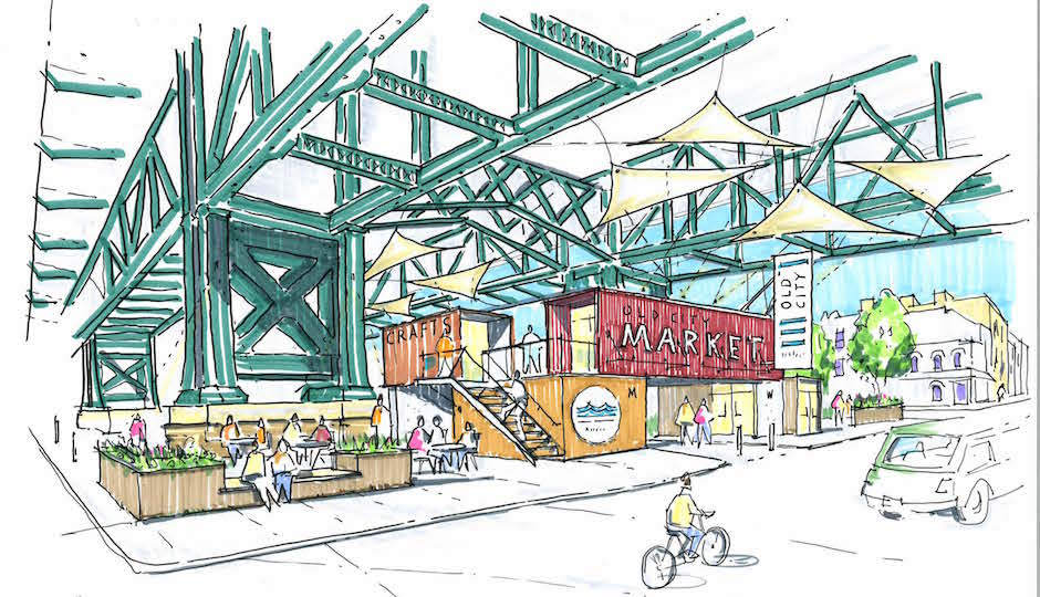 "What Old City residents who attended last night's ""Vision 2026"" workshop said they most wanted to see was something like this under the Ben Franklin Bridge. Rendering 