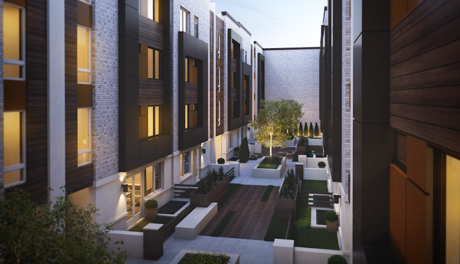 Architect's rendering of Garden Square courtyard | JKRP Architects