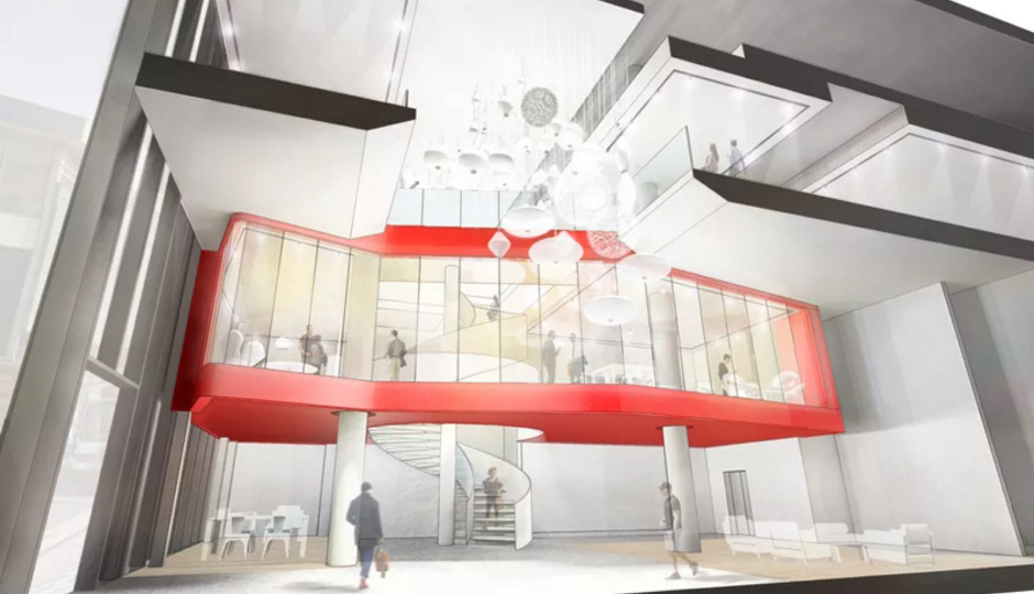 Architect's rendering of the new Design Within Reach showroom at Market East
