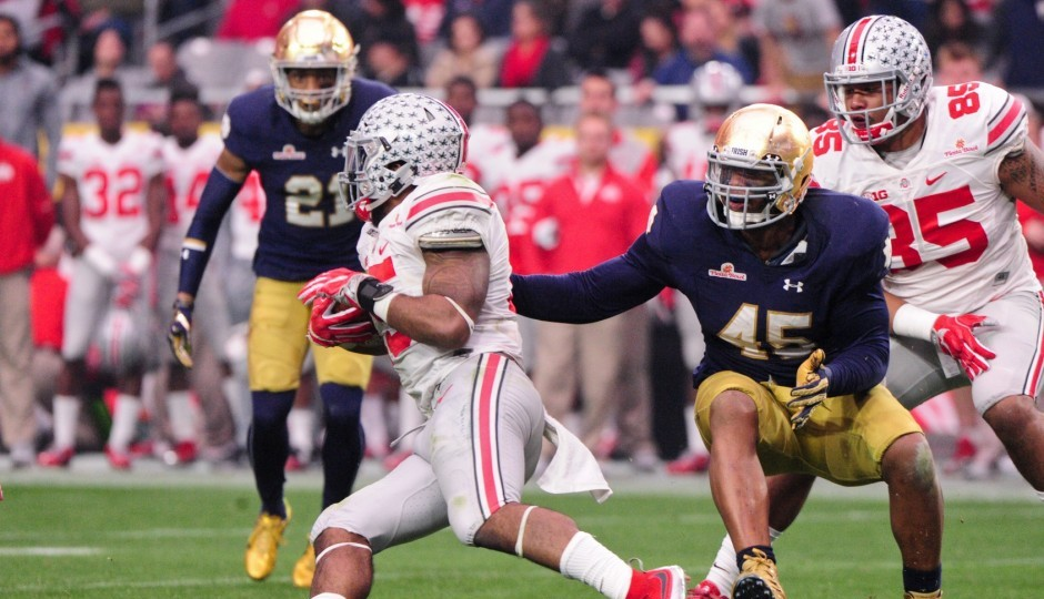 Ohio State running back Ezekiel Elliott. (USA Today Sports)