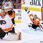 Flyers goalies Michal Neuvirth (left) and Steve Mason.