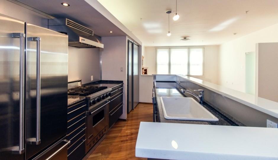 The kitchen of the condominium on sale at 1213-15 Locust St Unit #C, Philadelphia, PA 19107.
