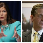 Kathleen Kane (Bradley C. Bower/AP), left, Bruce Castor (Matt Rourke/AP), right
