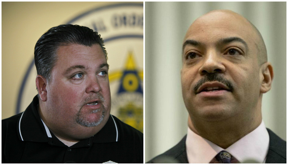 John McNesby and Seth Williams.   Photos by AP