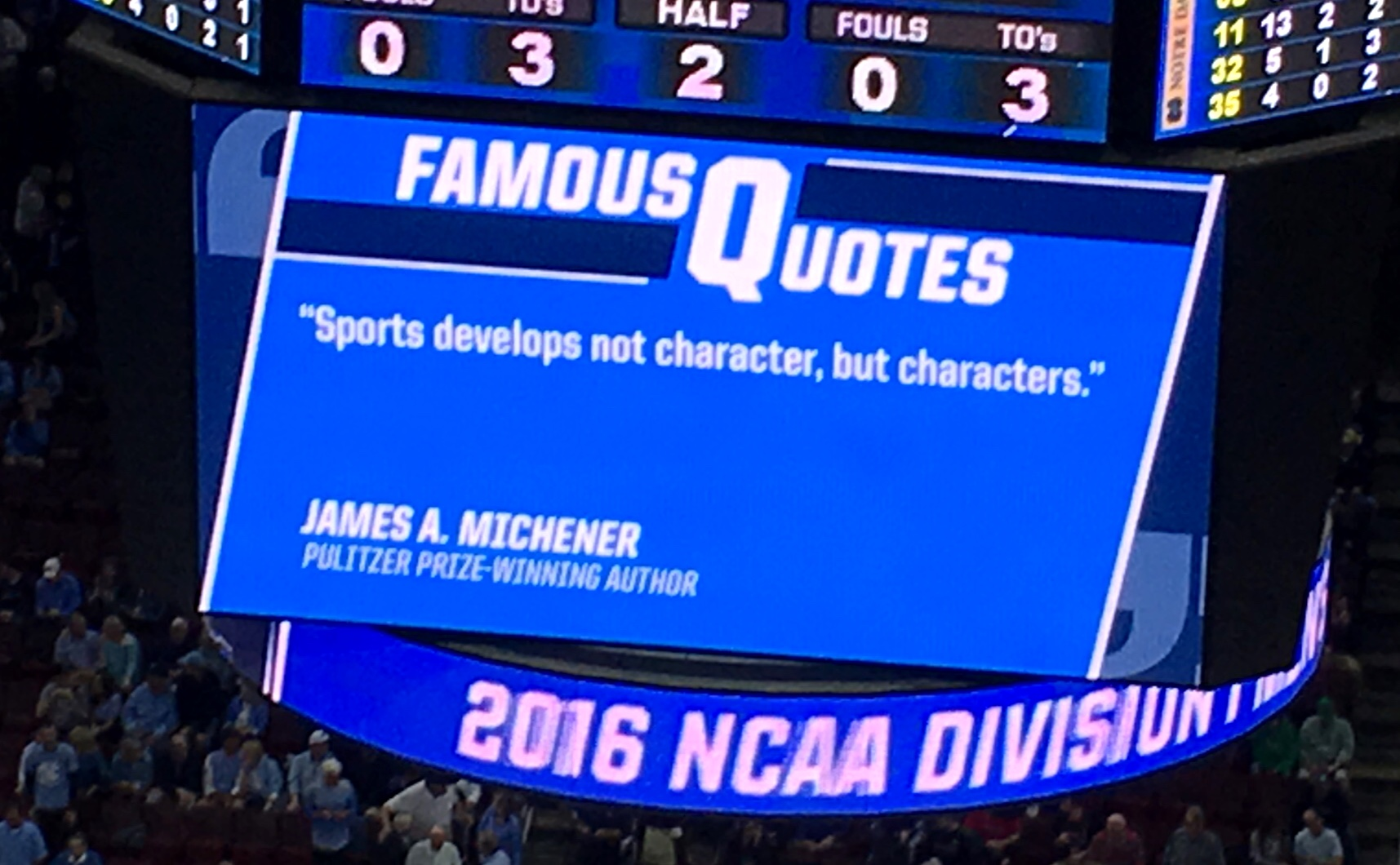 James Michener - sports and character