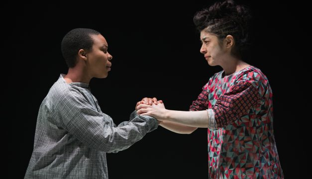 Ife Foy and Leigha Kato in Saint Joan at Quintessence. (Photo by )