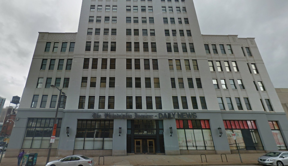 The former Inquirer building at 400 N. Broad St.