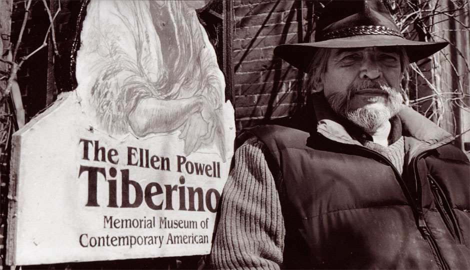 Artist Joseph Tiberino outside of The Ellen Powell Tiberino
