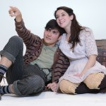 Brandon O'Rourke (Peter) and Michaela Schuchman (Molly) in Peter and the Starcatcher at Walnut Street Theatre.
