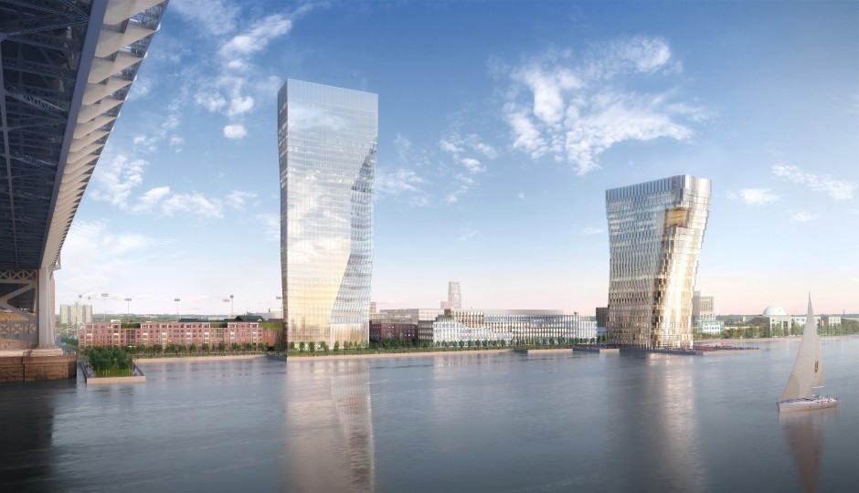 Waterfront View of the Camden Waterfront – copyright Volley for Robert A.M. Stern Architects