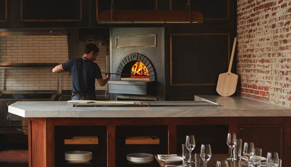 Woodfired oven at Wm. Mulherin's Sons | Photo by Michael Persico