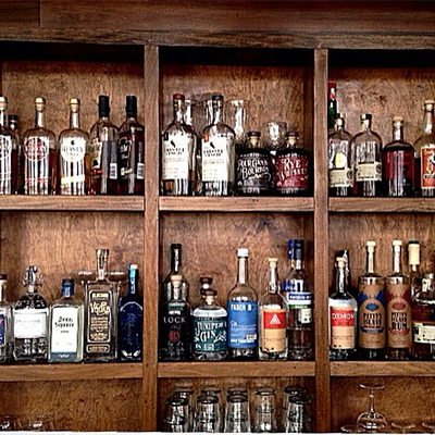 Jennifer Sabatino has the bar stocked with local spirits at Aldine | Photo via Jennifer Sabatino
