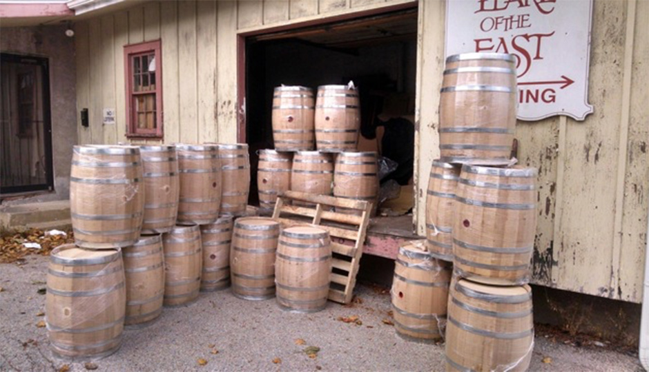 Soon these barrels will be aging sour beers.