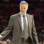 Brett Brown's Philadelphia 76ers fell to 9-64 on the season with a 108-105 loss to the Portland Trailblazers | Bill Streicher-USA TODAY Sports