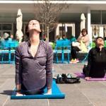Yoga at Dilworth Park | Photo via Facebook