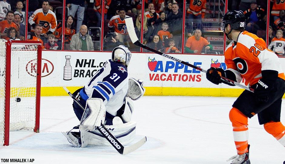 The game-winning goal by Philadelphia Flyers' Claude Giroux.