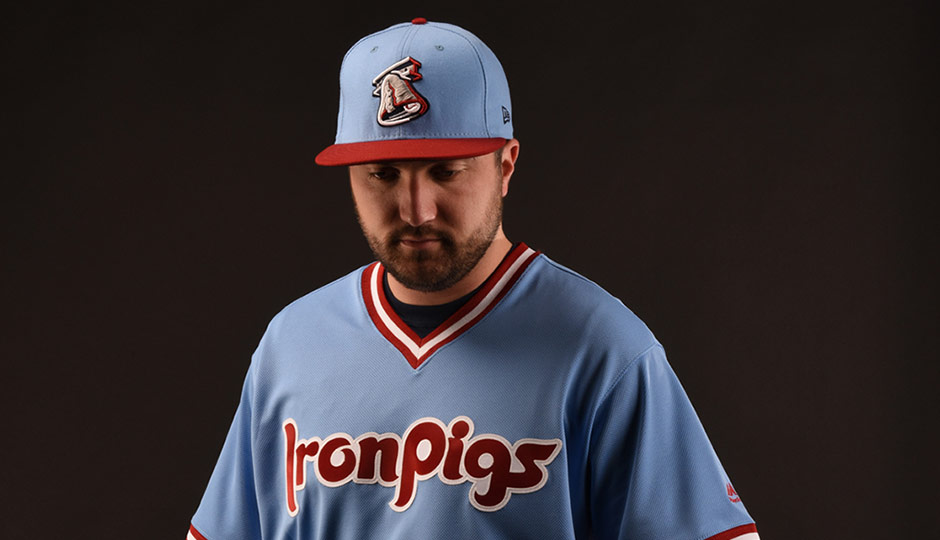 Lehigh Valley IronPigs powder blue jerseys