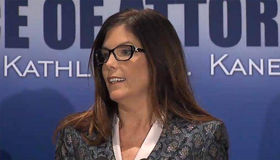 Kathleen Kane - AG press conference - Catholic priest sexual abuse