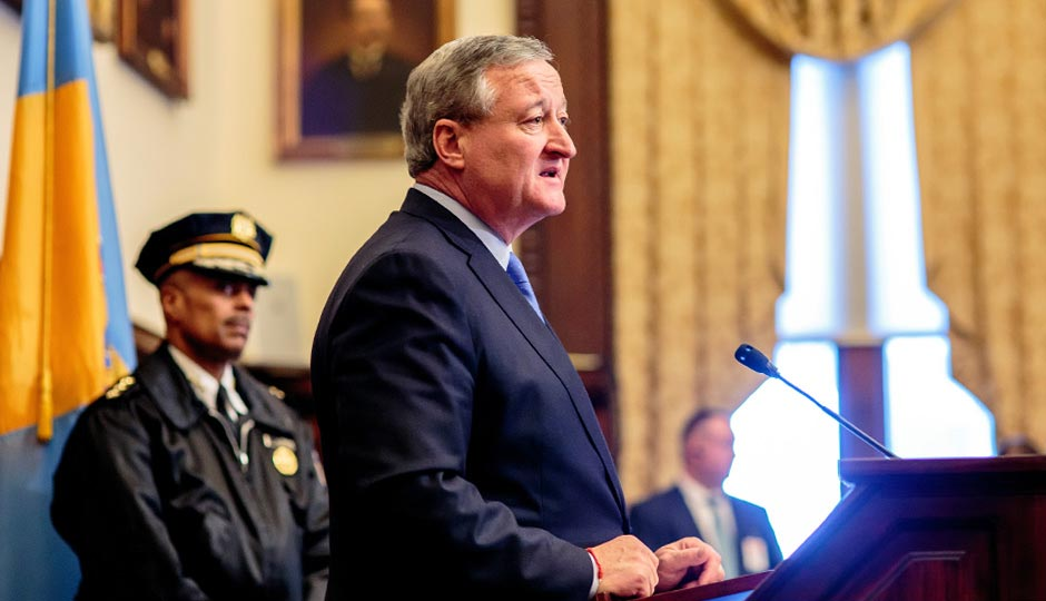 Mayor Jim Kenney and Police Commissioner Richard Ross. Photo | Jeff Fusco